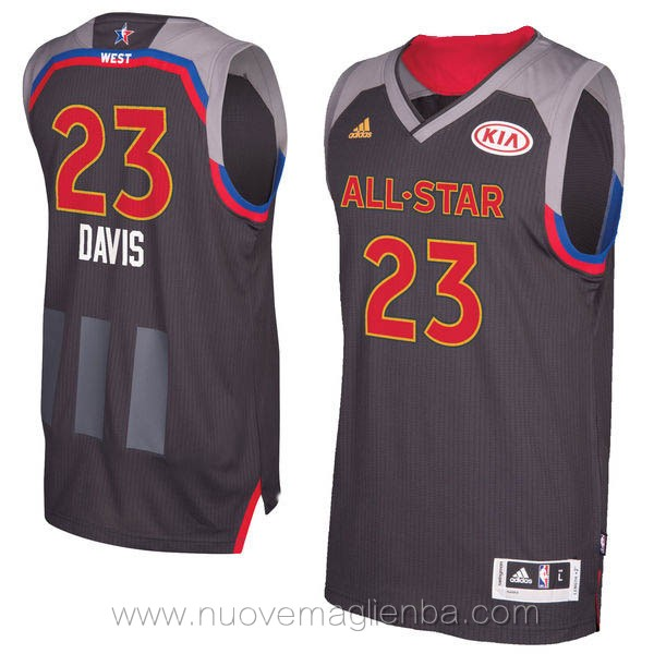canotte basket NBA nero Anthony Davis 2017 All Star