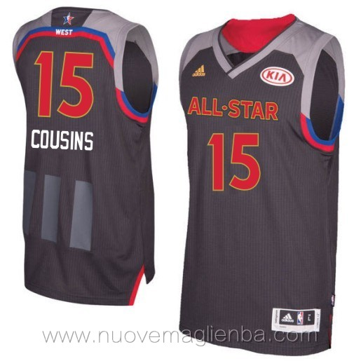 canotte basket NBA nero DeMarcus Cousins 2017 All Star