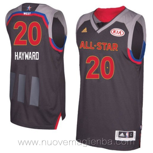 canotte basket NBA nero Gordon Hayward 2017 All Star