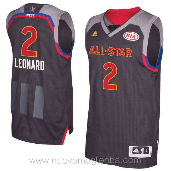 canotte basket NBA nero Kawhi Leonard 2017 All Star