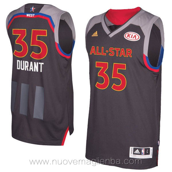 canotte basket NBA nero Kevin Durant 2017 All Star