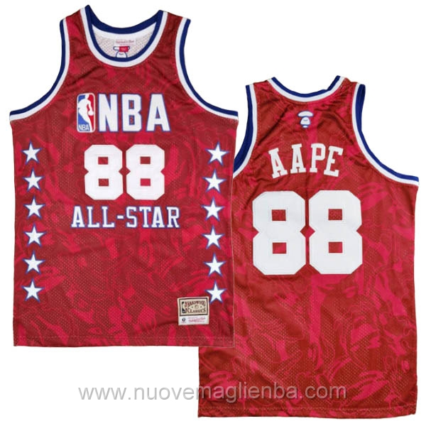 canotte basket NBA rosso AAPE x MITCHELL & NESS Nome comune 1988 All-Star