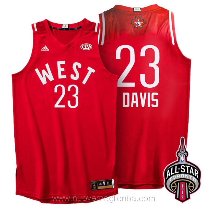 canotte basket NBA rosso Anthony Davis 2016 All Star