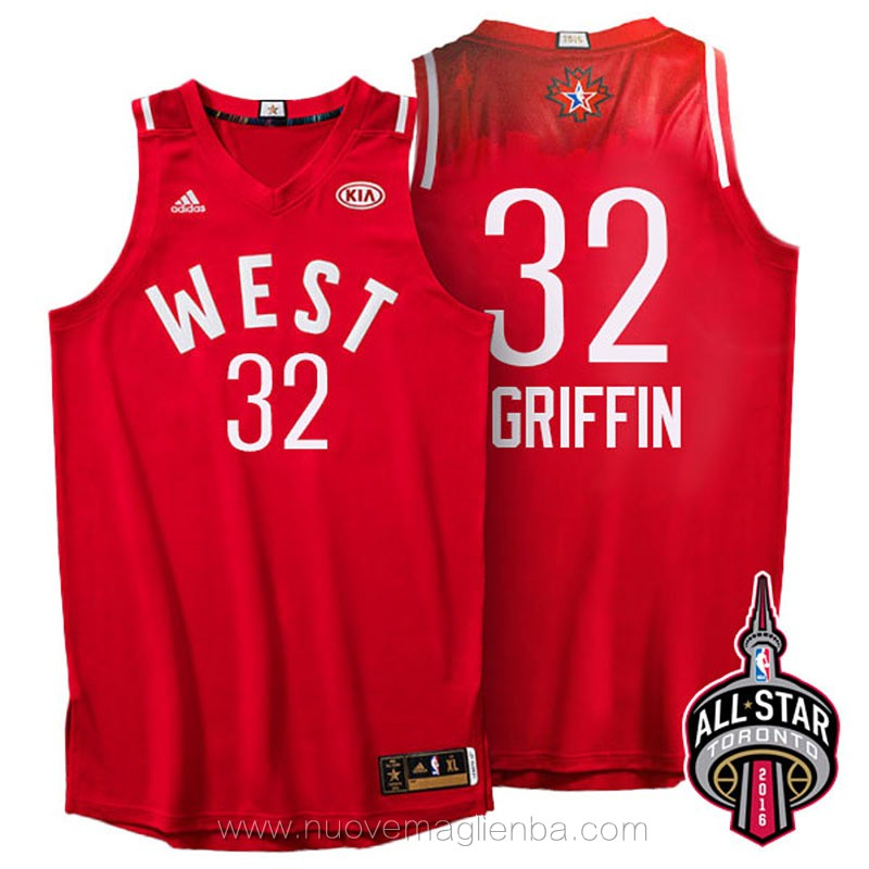 canotte basket NBA rosso Blake Griffin 2016 All Star