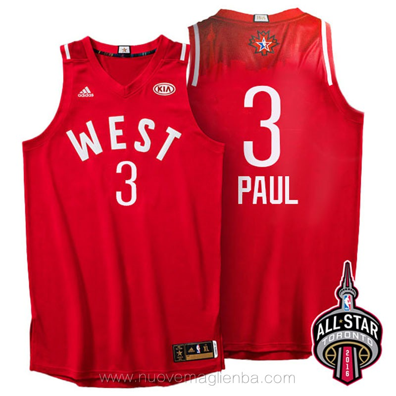 canotte basket NBA rosso Chris Paul 2016 All Star