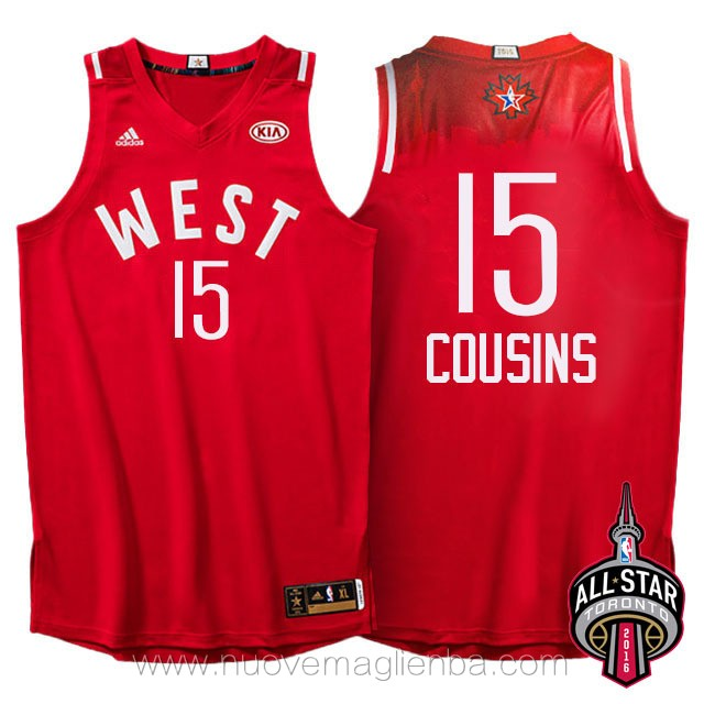 canotte basket NBA rosso DeMarcus Cousins 2016 All Star