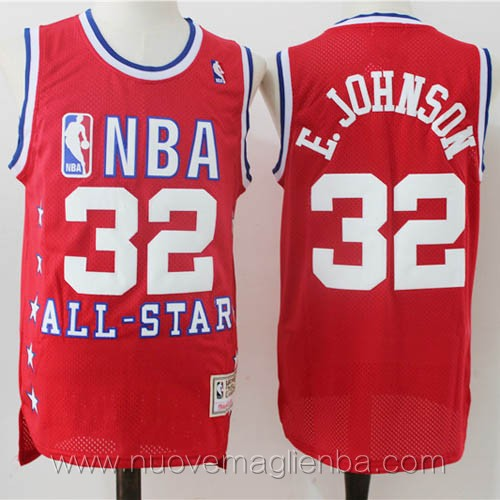 canotte basket NBA rosso E.Johnson 2003 All Star