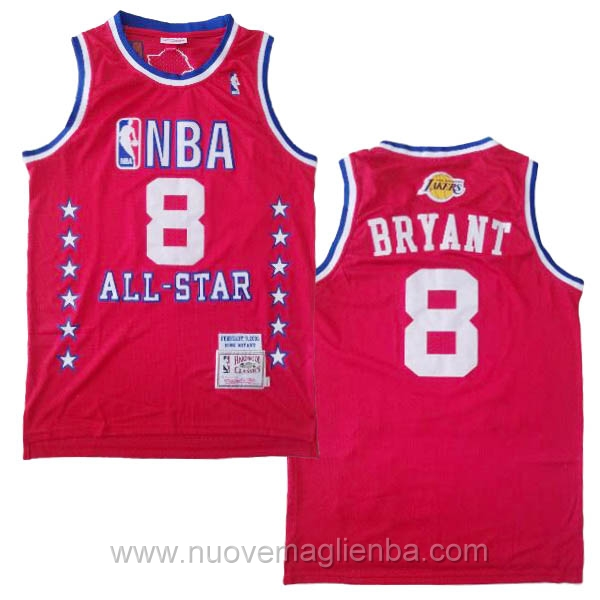 canotte basket NBA rosso Kobe Bryant 2003 All Star