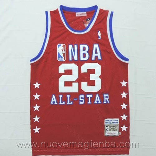 canotte basket NBA rosso Michael Jordan 2003 All Star