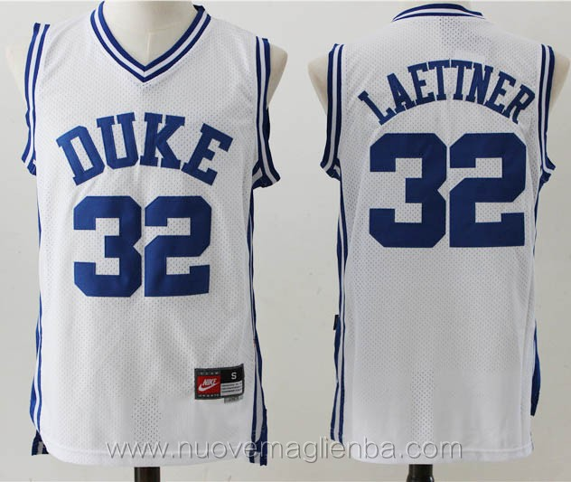 canotte basket NCAA bianco Christian Laettner DUKE