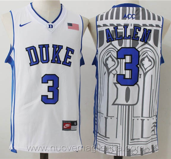 canotte basket NCAA bianco Grayson Allen Duke University