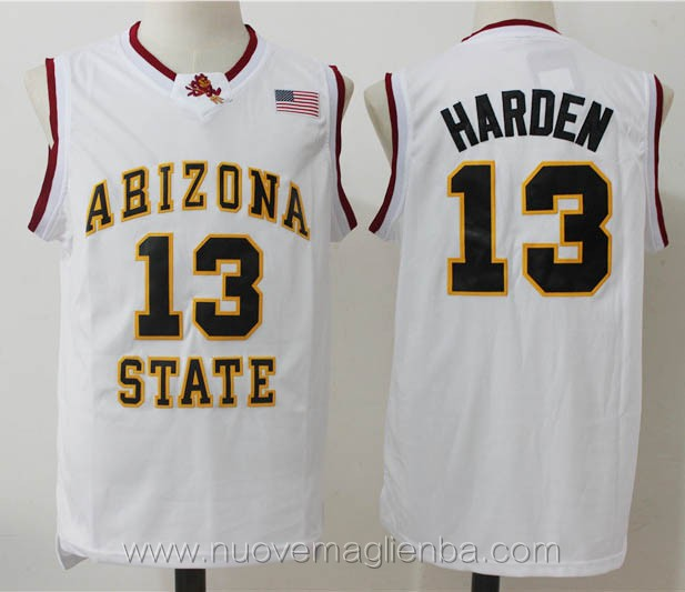 canotte basket NCAA bianco James Harden Arizona State