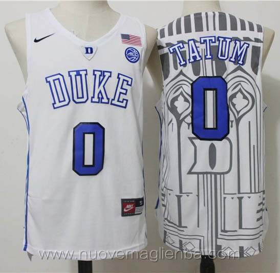canotte basket NCAA bianco Jayson Tatum Duke University