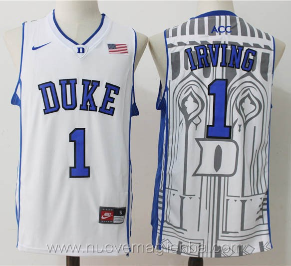 canotte basket NCAA bianco Kyrie Irving Duke University