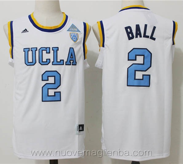 canotte basket NCAA bianco Lonzo Ball UCLA Bruins