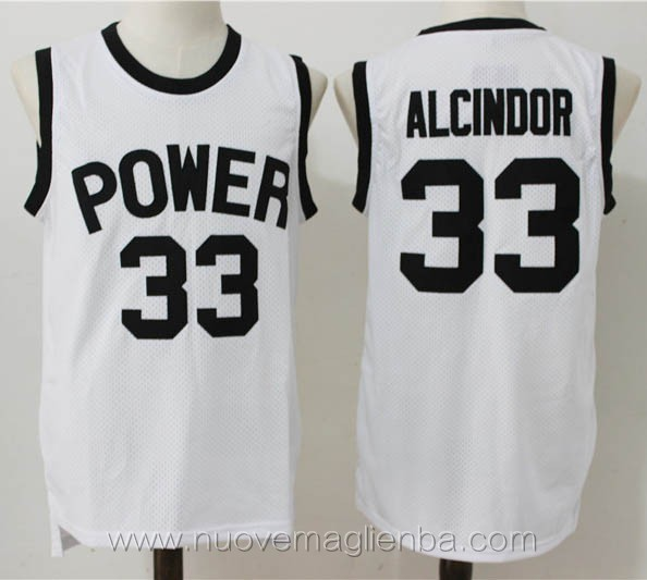 canotte basket bianco lew alcindor kareem abdul jabbar Power High School