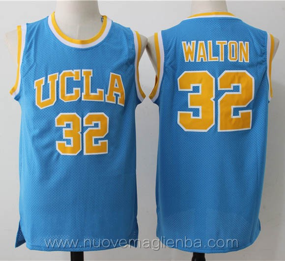 canotte basket NCAA blu Bill Walton UCLA Bruins