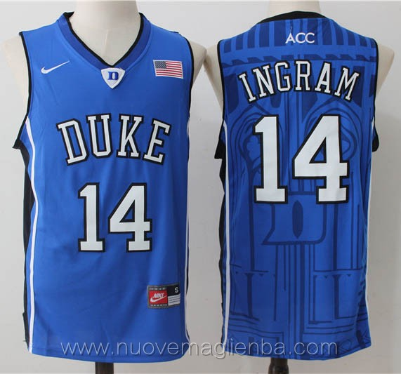 canotte basket NCAA blu Brandon Ingram Duke University