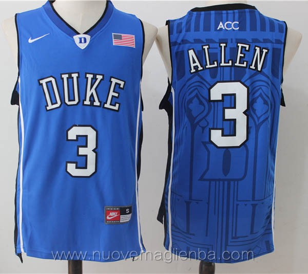 canotte basket NCAA blu Grayson Allen Duke University