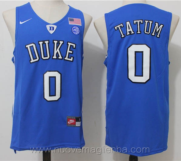 canotte basket NCAA blu Jayson Tatum Duke University