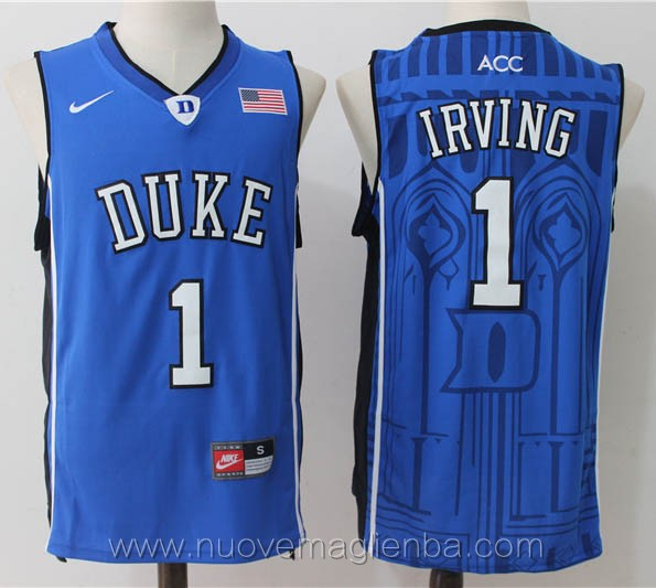 canotte basket NCAA blu Kyrie Irving Duke University