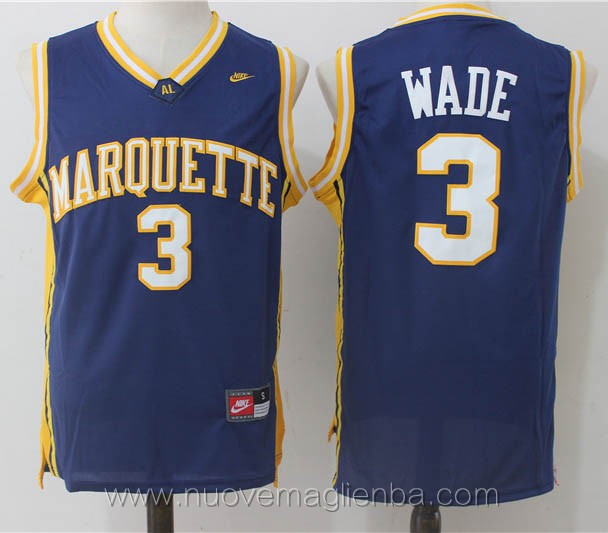 canotte basket NCAA blu scuro Dwyane Wade Marquette Golden Eagles