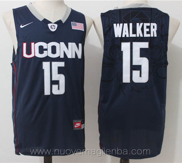 canotte basket NCAA blu scuro Kemba Walker UConn Huskies