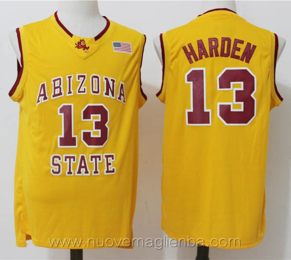 canotte basket NCAA giallo James Harden Arizona State