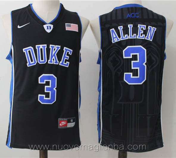 canotte basket NCAA nero Grayson Allen Duke University