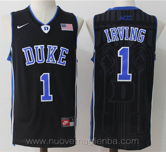 canotte basket NCAA nero Kyrie Irving Duke University