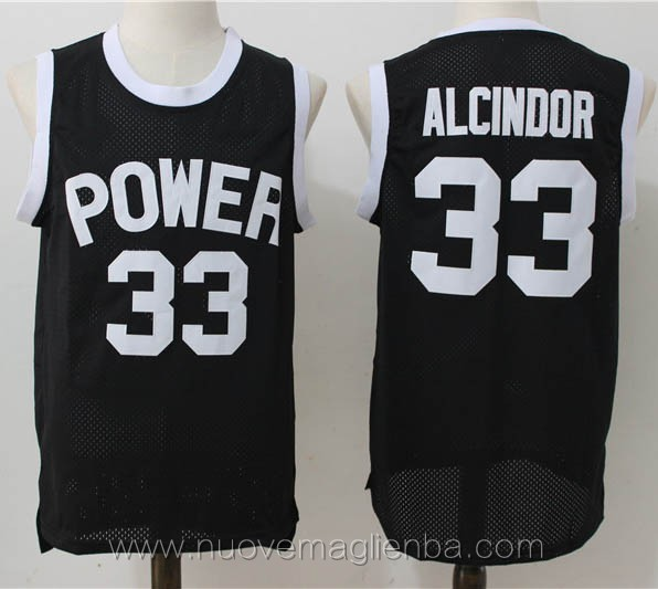canotte basket nero lew alcindor kareem abdul jabbar Power High School