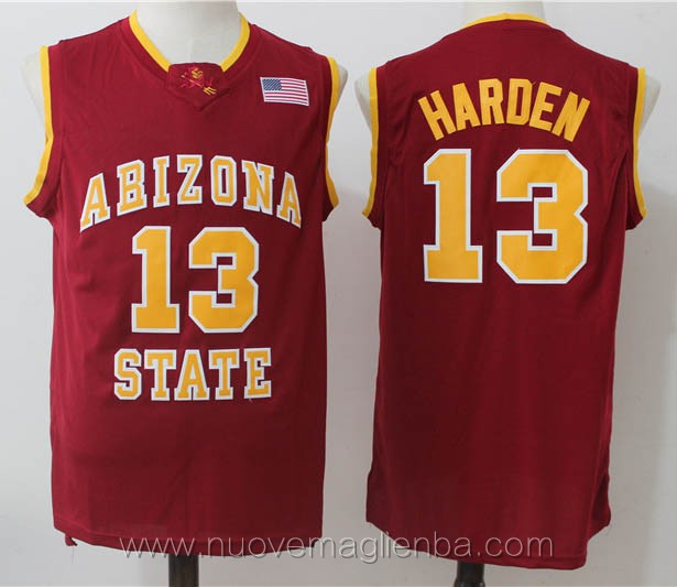 canotte basket NCAA rosso James Harden Arizona State