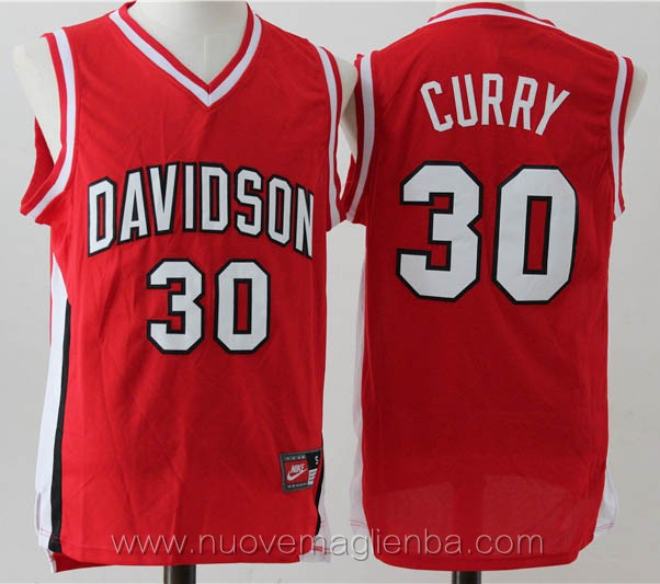 canotte basket NCAA rosso Stephen Curry Davidson College
