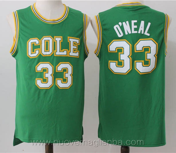 canotte basket verde Shaquille O'Neal Cole High School