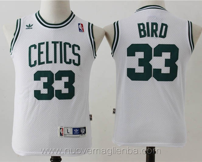 canotte basket bambini bainco Larry Bird Boston Celtics