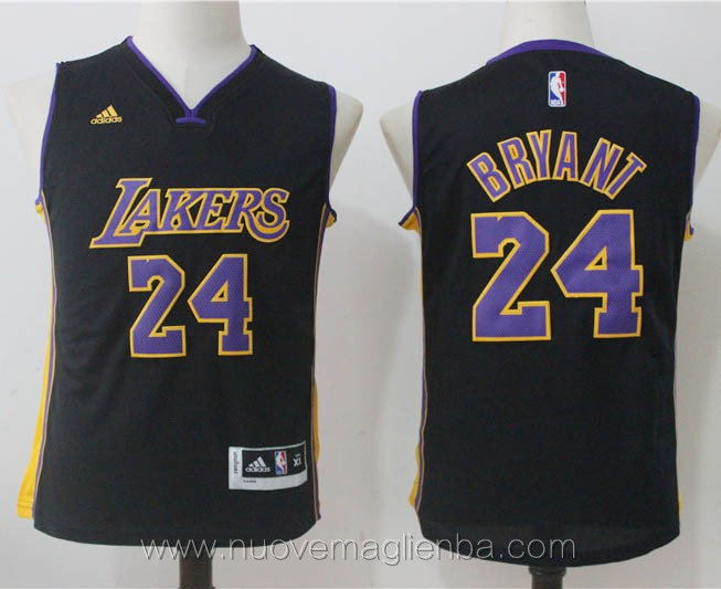 canotte basket bambini nero Kobe Bryant Los Angeles Lakers