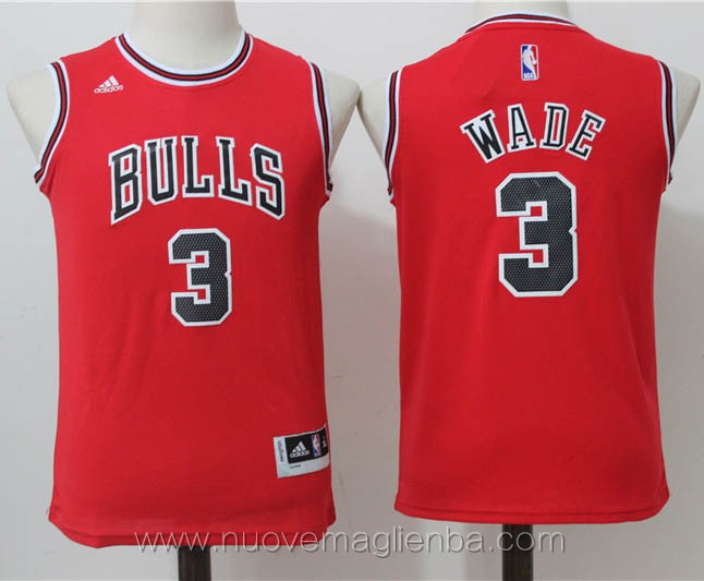 canotte basket bambini rosso Dwyane Wade Chicago Bulls