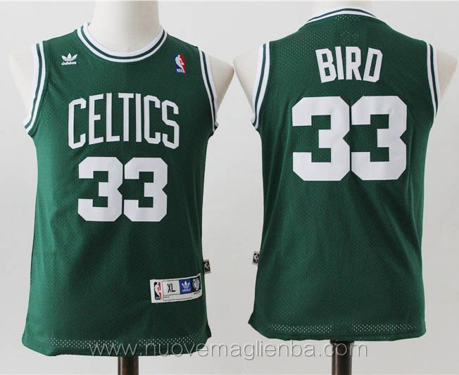 canotte basket bambini verde Larry Bird Boston Celtics