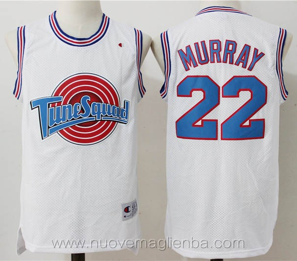 canotte basket bianco Bill Murray Tune Squad