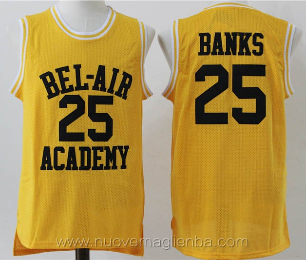 canotte basket giallo Carlton Banks bel-air Academy