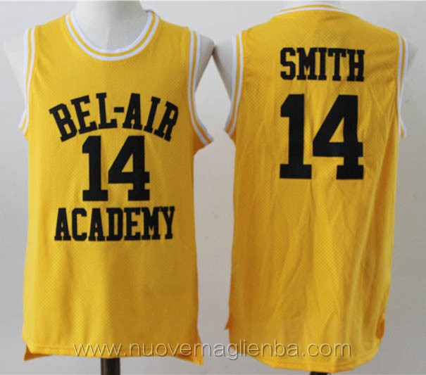 canotte basket giallo Will Smith bel-air Academy