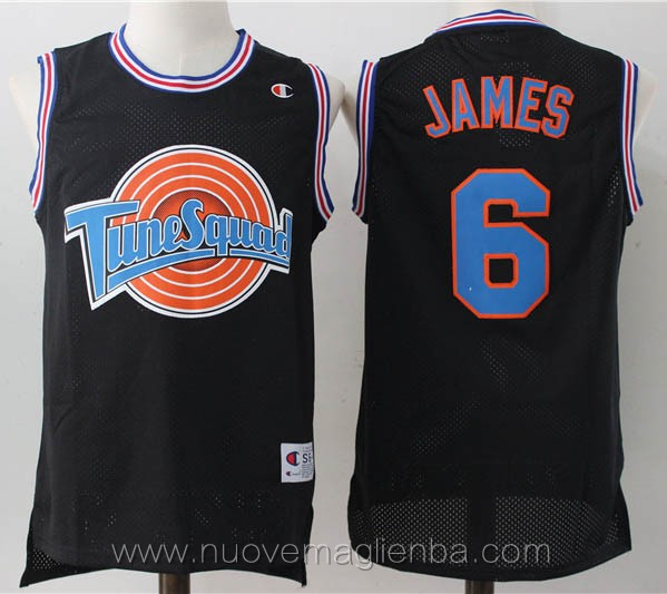 canotte basket nero LeBron James Tune Squad