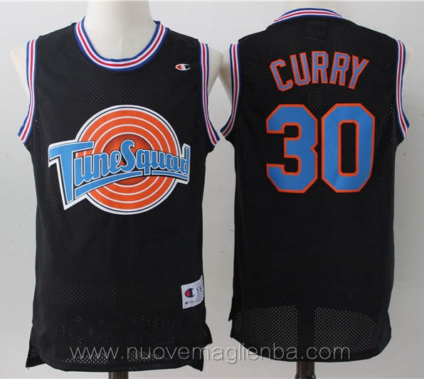 canotte basket nero Stephen Curry Tune Squad