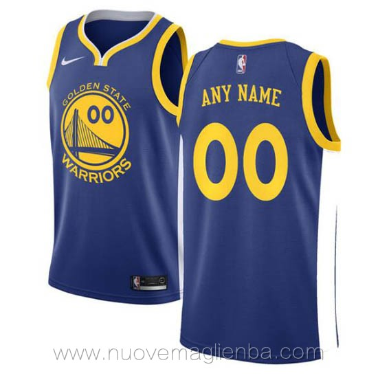 canotte basket personalizzate blu Golden State Warriors