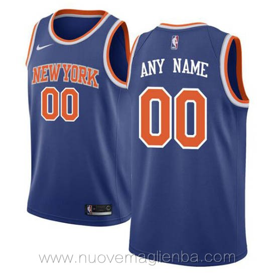 canotte basket personalizzate blu New York Knicks