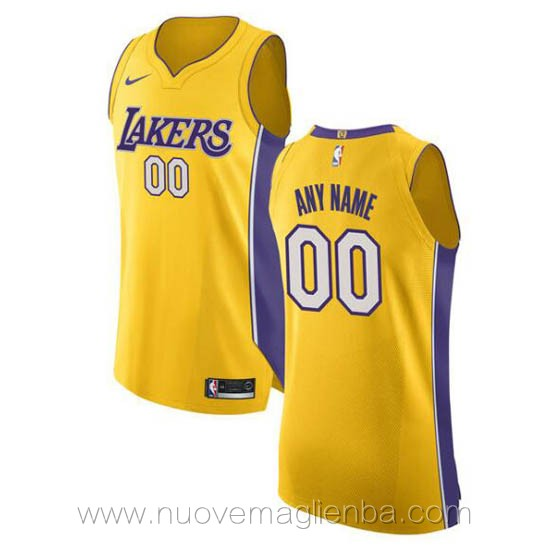 canotte basket personalizzate giallo Los Angeles Lakers
