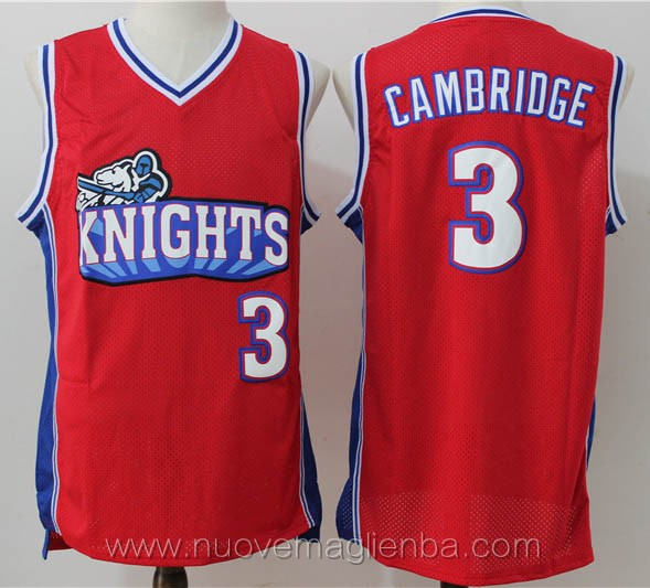 canotte basket rosso Calvin Cambridge Los Angeles Knights