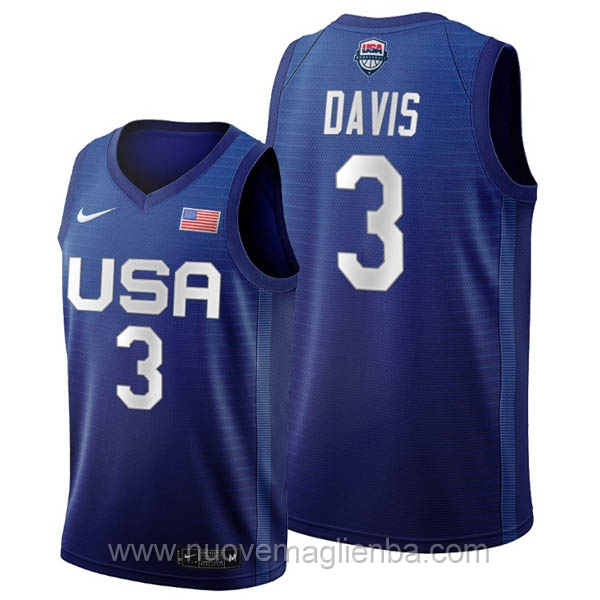 maglie basket USA blu Anthony Davis 2020