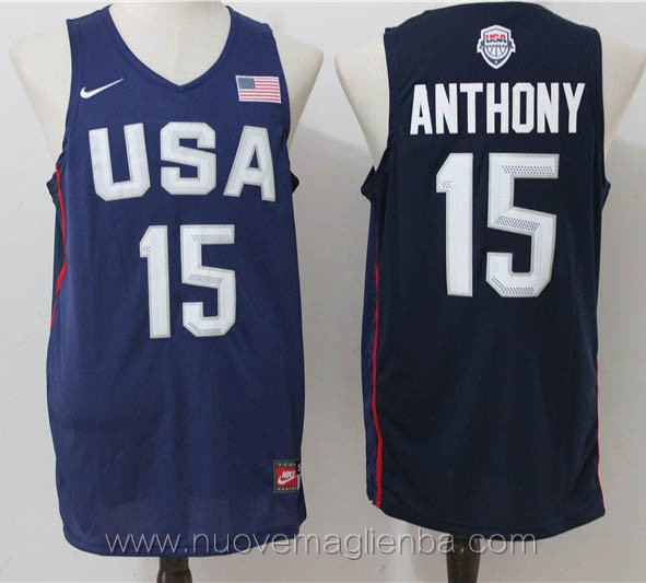maglie basket USA blu Carmelo Anthony 2016