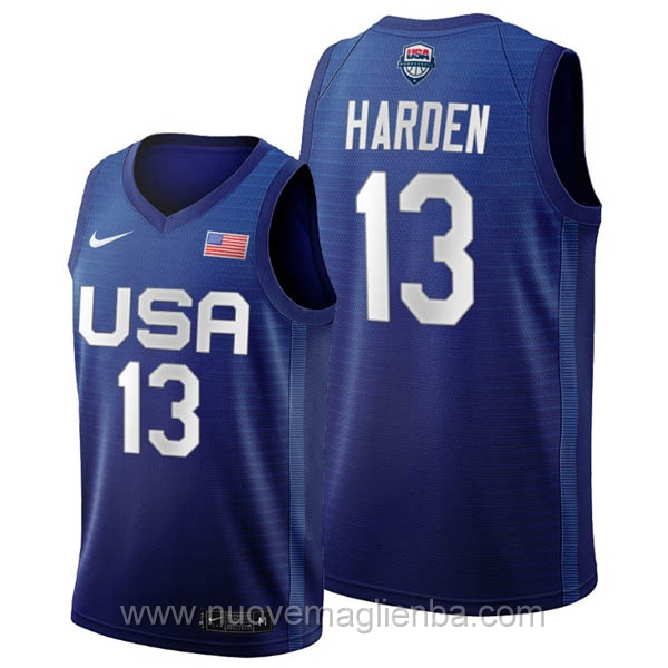 maglie basket USA blu James Harden 2020